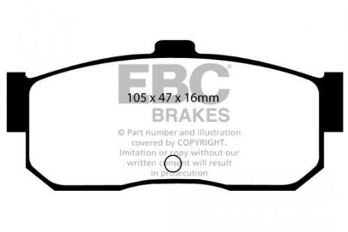 DP889 Ultimax2 Rear Brake Pads (Street) EBC Brakes