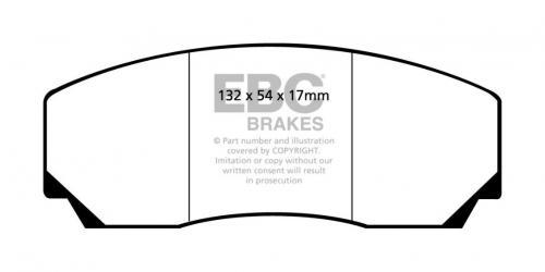 DP9002 Orangestuff Främre / Bakre Bromsbelägg (Racing) EBC Brakes