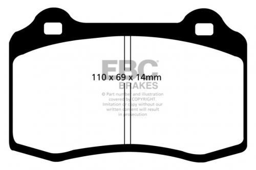 DP91140 Orangestuff Front / Rear Brake Pads (Racing) EBC Brakes