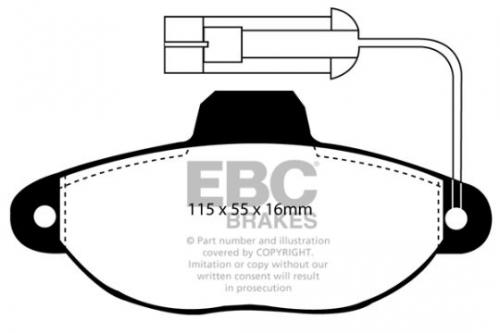 DP945 Ultimax2 Front Brake Pads (Street) EBC Brakes