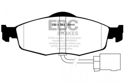 DP955 Ultimax2 Front Brake Pads (Street) EBC Brakes