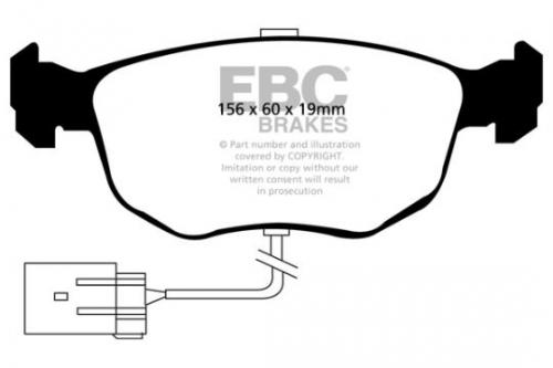 DP956 Ultimax2 Front Brake Pads (Street) EBC Brakes