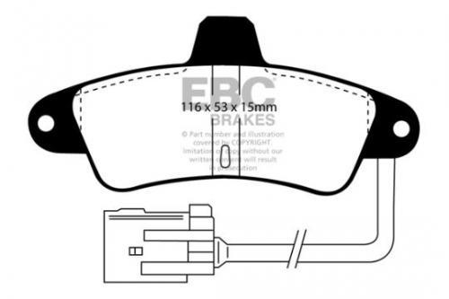 DP965 Ultimax2 Rear Brake Pads (Street) EBC Brakes