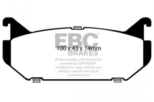 DP972 Ultimax2 Rear Brake Pads (Street) EBC Brakes