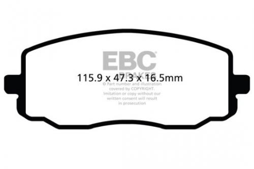 DPX2050 Ultimax2 Front Brake Pads (Street) EBC Brakes