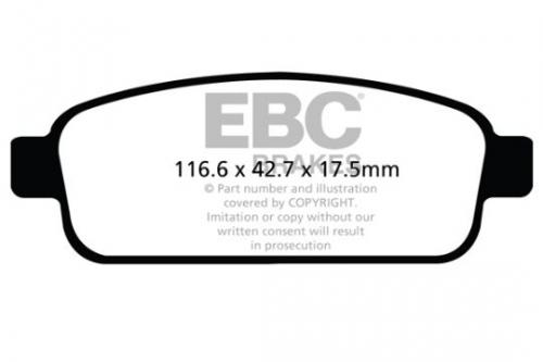 DPX2066 Ultimax2 Rear Brake Pads (Street) EBC Brakes
