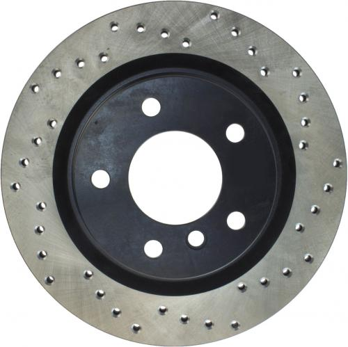 Cadillac / Fiat / Opel / SAAB Drilled Disc Right Rear Stoptech