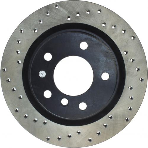 Cadillac / Fiat / Opel / SAAB Drilled Disc Left Rear Stoptech