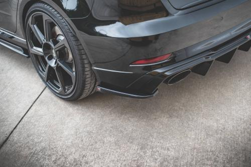 Audi RS3 8V 19+ Bakre Sido Splitters V2 Sportback Maxton Design