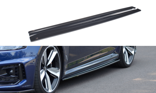 Audi RS4 B9 17+ Side Skirts Diffusers Maxton Design