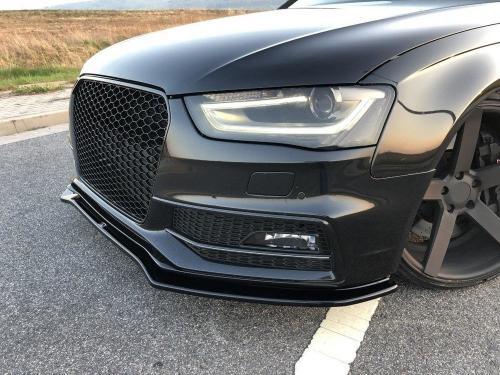 Audi S4 / A4 S-Line B8 11-15 (Facelift) Frontsplitter V2 Maxton Design