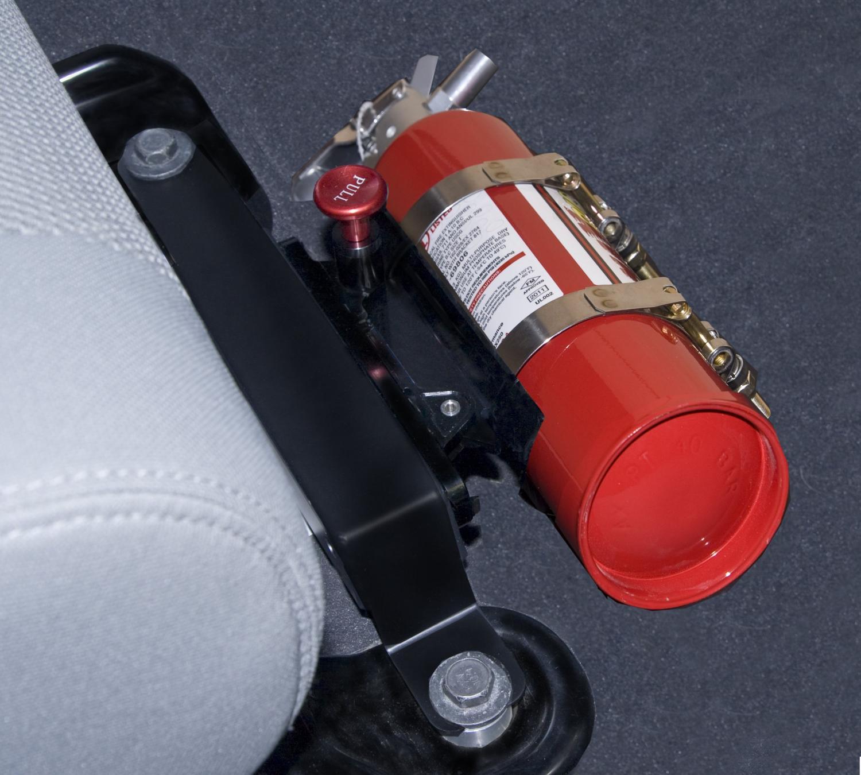 Fire Extinguisher Mount Black Off Road Car NHRA approved 6061-T6 billet aluminum