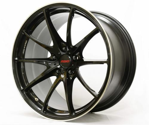 G25 18x7.5 ET43 5x114.3 Formula Silver/Black Clear/Rim Edge DC (CB) Volk racing