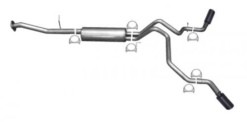 Avalanche 5.3L 02-06 Stainless Black Elite Cat-Back Dual Extreme Exhaust System Gibson