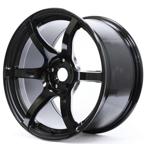 Gram Lights 57C6, 18X8.5, 35, 5x100, SEMI GLOSS BLACK