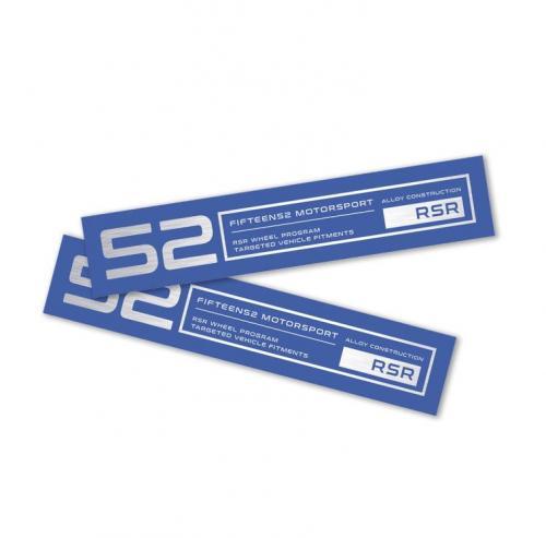 Fifteen52 Holeshot RSR Fälgdekal Blå (Set med 4st)