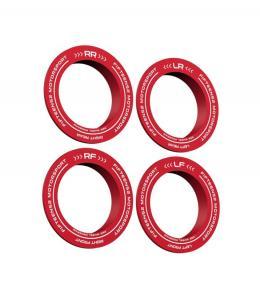 Fifteen52 Holeshot RSR Centerringar Röd (Set med 4st)