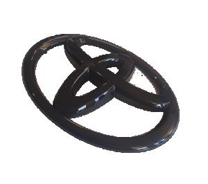 GT86 13-16 Blanksvart Toyota Emblem Fram JDM Station