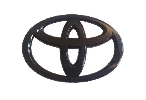 GT86 13-16 Gloss Black Toyota Emblem FRONT JDM Station