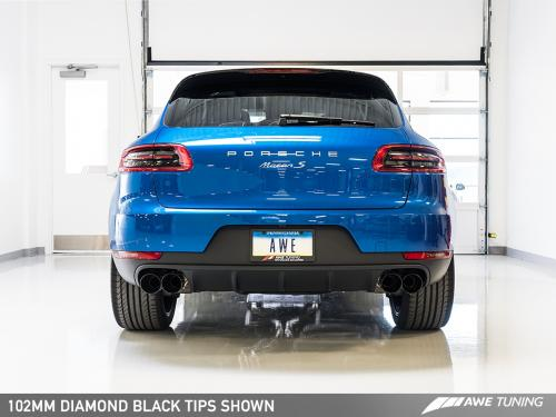 Porsche Macan Touring Edition Exhaust System - Diamond Black 102mm Tips AWE Tuning