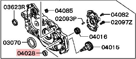 Mitsubishi 4G63 Packning Oljepumpsaxel OEM