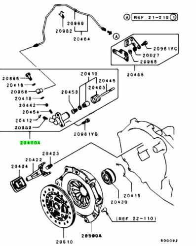 Mitsubishi Evo 3 Slavcylinder OEM