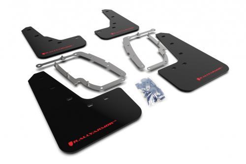 Tesla Model 3 17+ Mud Flaps Red Logo Rally Armor