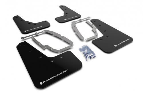 Tesla Model 3 17+ Mud Flaps Silver Logo Rally Armor