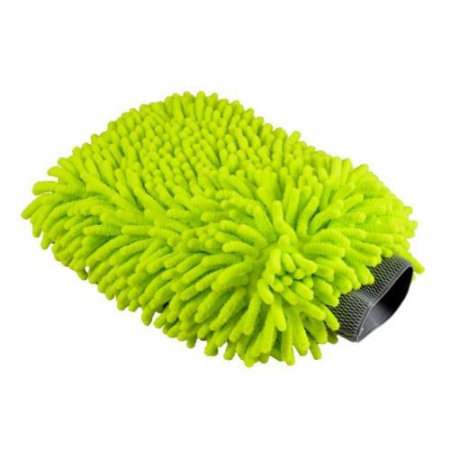 "Chemical Guys Tvätthandske ""Chenille"" Grön Microfiber"