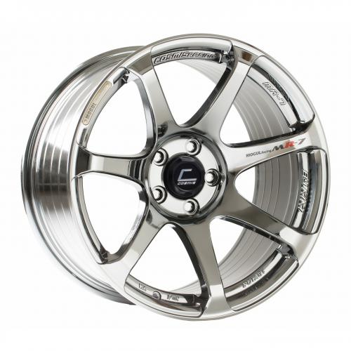 Cosmis Racing MR7 18x10 +25mm 5x114.3  Svart Chrome
