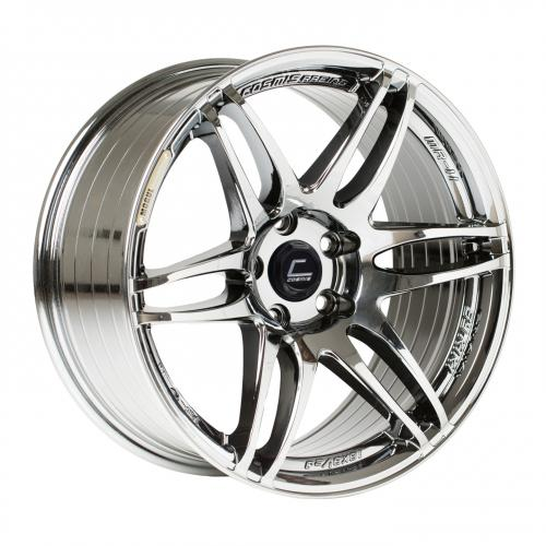Cosmis Racing MRII 17x9 +10mm 5x114.3  Svart Chrome