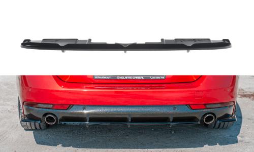 Peugeot 508 SW MK2 18+ Central Rear Splitter (With Vertical Bars) V.1 Maxton Design