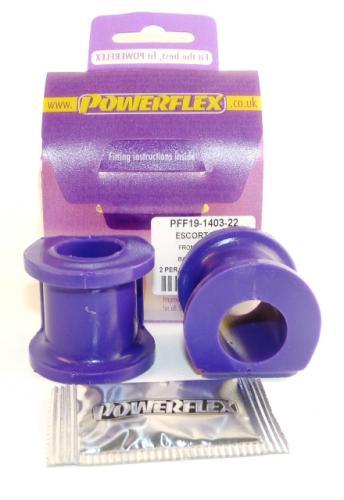 Capri Främre Krängningshämmarbussningar 22mm Lila Purple Series (Street) Powerflex