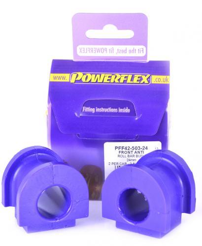 45 Främre Krängningshämmarbussningar 24mm Lila Purple Series (Street) Powerflex