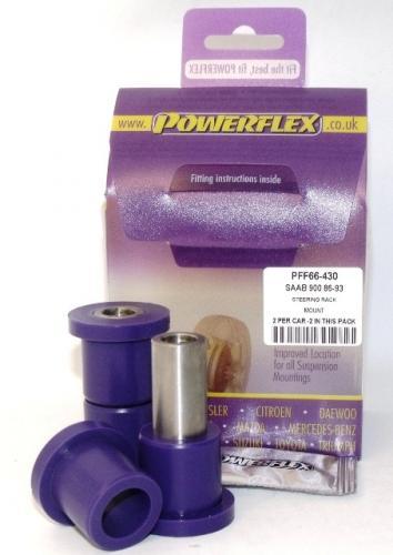 900 (1983-1993) Steering Rack Fäste Lila Purple Series (Street) Powerflex