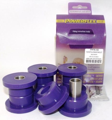 Starlet KP60 RWD Bakre Inre Bar Link Bussningar Lila Purple Series (Street) Powerflex