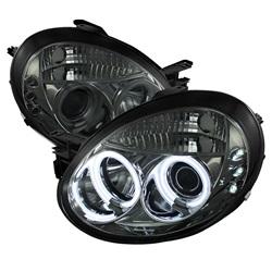 Dodge Neon 03-05 Strålkastare Projektor LED (Utbytbara LEDs) - Röktonade