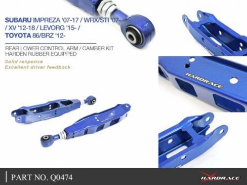 Subaru / Toyota Bakre Nedre Länkarmar (Förstärkt Gummibussning) 2Delar/Set Hardrace