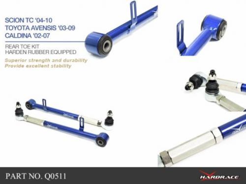 Scion TC 04-10 / Toyota Avensis 03-09 Bakre Toe-Stag (Förstärkt Gummibussning) -2Delar/Set Hardrace