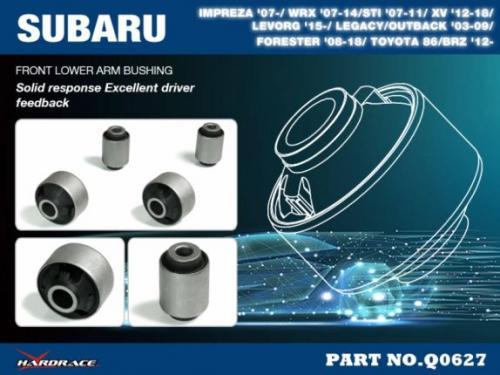 """Subaru / Toyota Främre Nedre Länkarmsbussningar - """"Gata"""" (Förstärkt Gummibussning) - 4Delar/Set Hardrace"""
