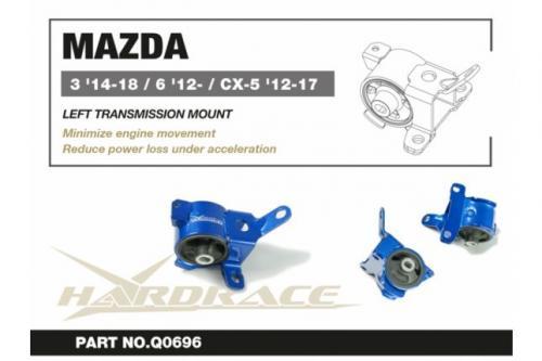 Mazda 3 '14-18/ 6 '12-/ CX-5 '12-17 Vänster Växellådsfäste - 1Delar/Set Hardrace