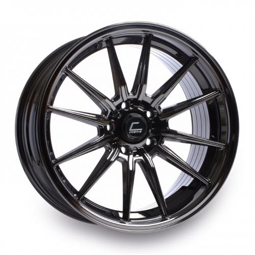 Cosmis Racing R1 18x10.5 +30mm 5x114.3  Svart Chrome