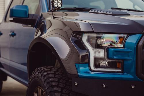 2017-2018 Ford Raptor Framskärmar / Skärmbreddare Kolfiber (Parvis) Anderson Composites
