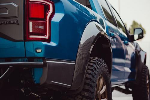 2017-2018 Ford Raptor Bakre Skärmbreddare / Fender Flares Kolfiber (Parvis) Anderson Composites