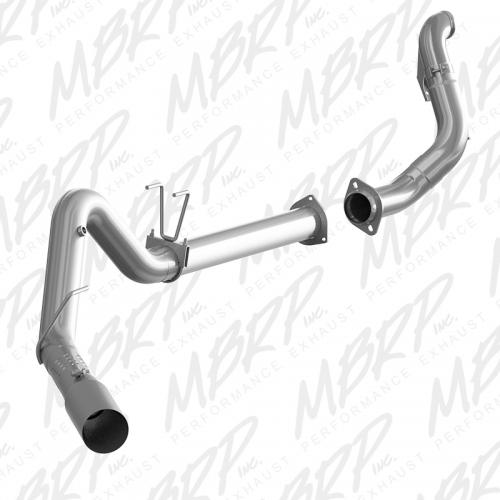"""F-250/350/450 6.7 L - not cab & chassis 2015-2016 4"""" Filter Back Single Side Exit T409 + Down Pipe MBRP"""