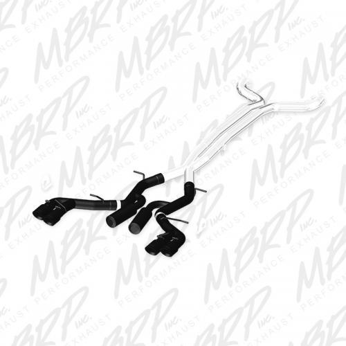 "Camaro 6.2L 6-vxl 16-17 3"" Catback 4st Utblås Svart Coatad Race Version MBRP"