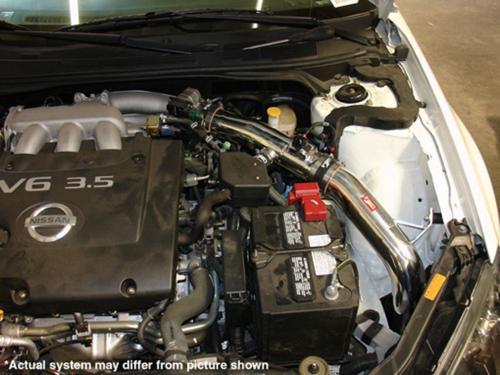 Altima 3.5L V6 04-06 Polerat CAI Kalluftsintag Luftfilterkit Injen