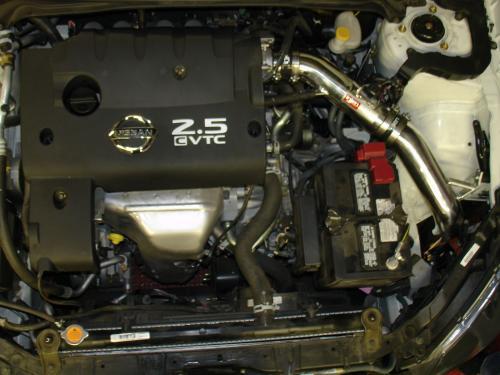 Altima 2.5L 4 Cyl. (Endast Automat) 04-06 Polerat CAI Kalluftsintag Luftfilterkit Injen