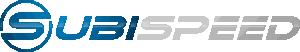 subiespeed logo blue grey
