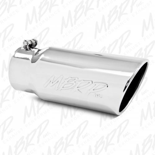 "MBRP 4/"" to 7/"" Rolled End Angled Cut Exhaust Tip T5126"